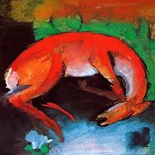 marc painting dead deer by franz marc