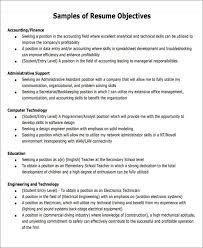 Sample Resume Objectives For Students Generic Resume Objective 5 Examples In Word Pdf