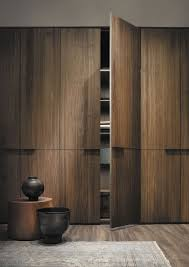 Wooden Wardrobe Door Designs Lemamobili Seryassa Wardrobe Front Walnut In 2020