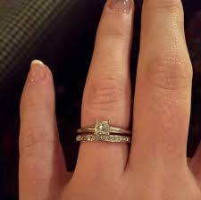 My Solitaire E Ring And Wedding Band Do Not Sit Flush Weddingbee