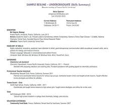 My First Resume Sample College Student Resume No Work Experience