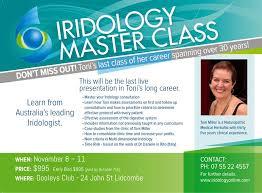 Toni Miller Iridology Chart Master Class Integrated Iridology Eyes Of The Beholders