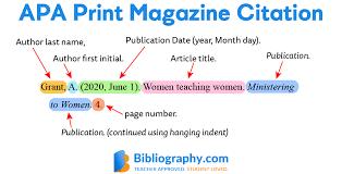 apa magazine article citation exles