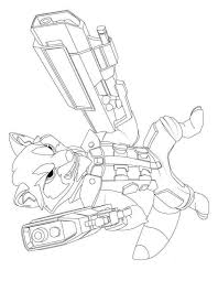 Raccoon Guardians The Galaxy Coloring Pages Print Coloring