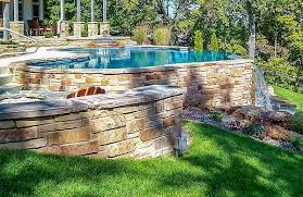 If you like the round above ground pools, this one by intex is a great option. Out Of Ground Swimming Pools Custom Concrete Construction
