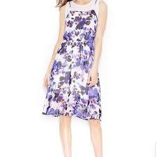 Kensie Clothing Size Chart 2 15 3 20 Kensie Imperial Purple Flower Dress
