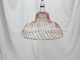 modern gold wire lampshade cage industrial diy pendant light lamp shade