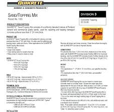 Quikrete Sand Topping Mix Coverage Chart Quikrete Concrete Mix 80 Lb Auditionbox Co