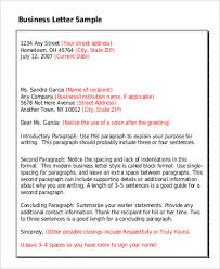 9+ Standard Business Letter Format Samples | Sample Templates