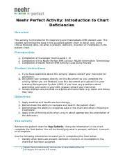 Chart Deficiencies Neehr Perfect Activity Introduction To
