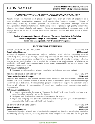 Sample Resume Business Owner Unusual Construction Company Owner Resume Resumes Santos 6014 Wudui Me