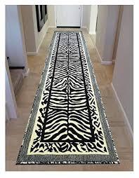 zebra black f white runner rug 2 feet 4 inch x 11 feet k142