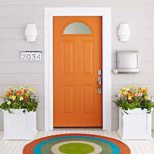 Orange front door Inside Orange Painted Exterior Front Door Wearefound Home Design Orange Painted Exterior Front Door Ways To Paint Your Exterior