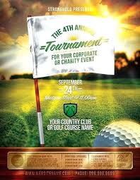 Golf Tournament Flyer Template Golf Tournament Event Flyer Template On Powerpoint Sign Up