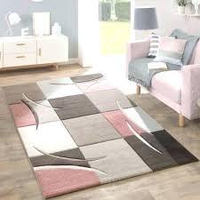 grey living room rug pale pink beige brown pastel colour check carpet soft mat black and pink bedroom rug