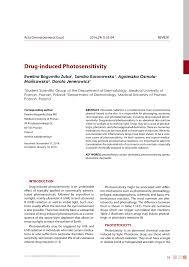 Pdf Drug Induced Photosensitivity