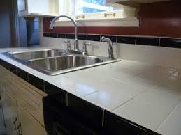 black and white tile countertops. Interesting Countertops A Tile Countertop  Intended Black And White Tile Countertops C