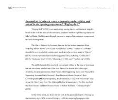 bull analysis essay raging bull analysis essay