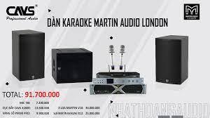Dàn Karaoke nhập khẩu cao cấp Martin Audio - CAVS