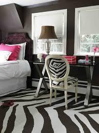 zebra pattern rug for teen girls black and white room