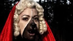 unzipped zipper makeup little red riding hood wolf look