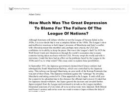 how much was the great depression to blame for the failure of the document image preview