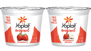 whole yoplait original yogurt strawberry banana 4oz general mills convenience and foodservice