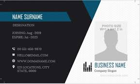 Company Id Badge Template 7 Free Id Badge Template Designs For Ms Word Microsoft
