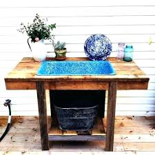 outdoor sink table outdoor sink powered by a water hose outside faucet cupboard outdoor sink outdoor