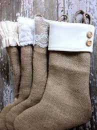 diy ideas for decorating burlap linen stockings