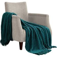 Dark Teal Throw Blanket