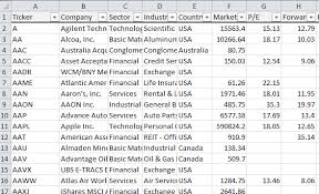 excel spreadsheet download stock screener for excel with automatic data download