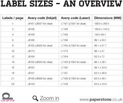 Avery Label Sizes Chart Avery Label Sizes Lamasa Jasonkellyphoto Co