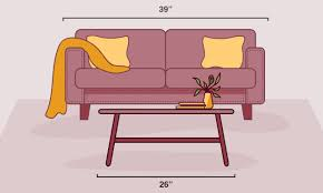 coffee table length or width