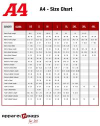 A4 Size Chart Clothing Size Chart Size Chart A4 Size