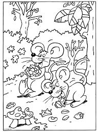 Kleurplatennl Herfst Muizen Zoeken Eten