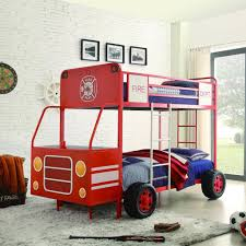 Red Fire Truck Twin Beds For Boys