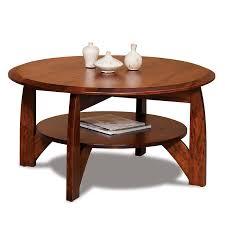 boulder creek round coffee table