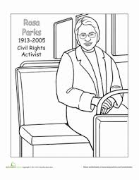 Small Picture Rosa Parks Worksheet Educationcom