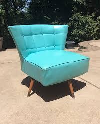 Kroehler Bedroom Furniture Vtg 1960s Teal Kroehler Club Swivel Chair Mid Century Modern