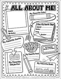 Small Picture The 25 best All about me worksheet ideas on Pinterest All about