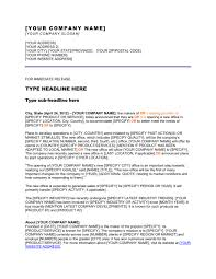 Business Press Release Template Press Release Opening A New Office Template Word Pdf