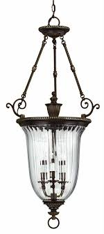 hinkley lighting 3 light indoor urn pendant from the cambridge collection