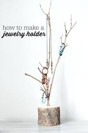 jewelry holder tree how to make a at diy dollar hanger
