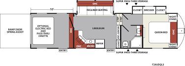 xlr nitro fifth wheel toy haulers 29udqs floorplan