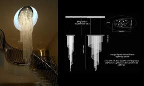 contemporary crystal spiral chandeliers