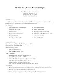 Medical Assistant Objective Statement Resume Examples For Medical Assistant Emelcotest Com