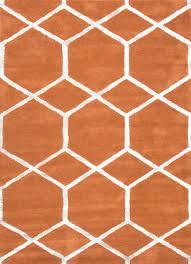 modern geometric pattern red orange woolsilk tufted rug modern orange rugs uk