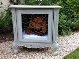 dog crates furniture style. whimsical shabby chic vintage french style dog bed kennel end table occassional nightstand two whimsies painted furniture crates