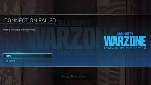warzone won t connect to services